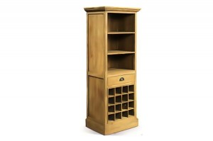 FQ-32 Wine book cab. 1drw 16 bottle 60x45x190cm
