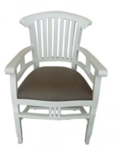FAC-007 Ivy arm chair white with oscar seat