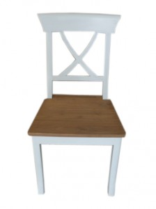 FDC-001 Cross chair old white seat old look