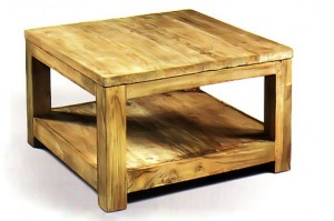 CF-12 Coffee table with shelf top 3cm leg7x7cm 60x60x42cm