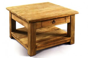 CF-18 Coffee table 1drw with shelf leg 7x7cm 60x60x47cm
