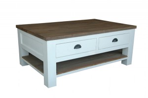 FCT-003 Coffee table 2drw + shelf 45x110x70cm
