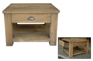 FCT-012 Coffee table 1drw + shelf 42x60x60cm