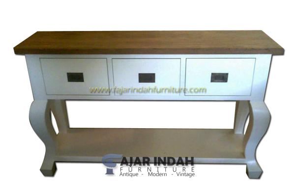 FST 002 Side Table 3drw+shelf 130x35x75cm ...